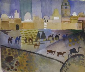 Kairouan I, 1914 by Auguste Macke