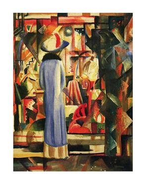 Large Bright Showcase by Auguste Macke