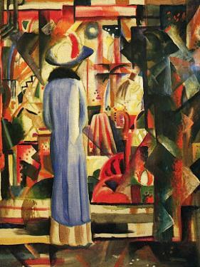 Large Bright Showcase by Auguste Macke