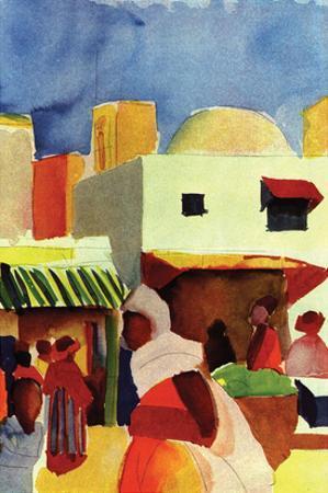 Market in Algiers by Auguste Macke