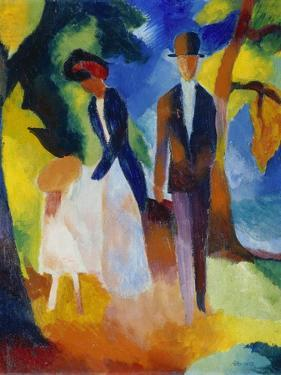 People at the Blue Lake (Leute Am Blauen See), 1913 by Auguste Macke