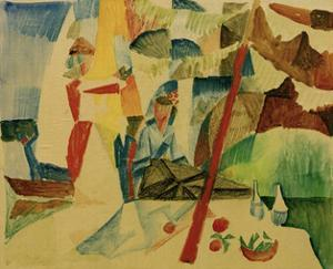 Picnic After Sailing by Auguste Macke