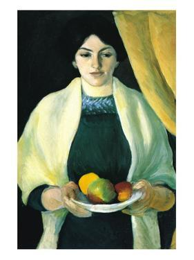 Portrait with Apples (Portrait of The Wife of The Artist) by Auguste Macke
