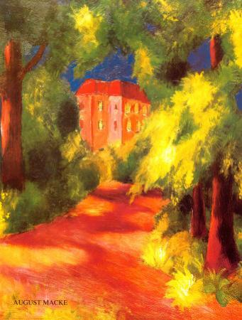Rotes Haus by Auguste Macke