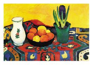 Still Life with Hyacinthe by Auguste Macke