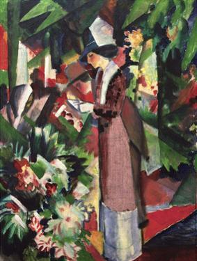 Strolling amongst Flowers by Auguste Macke