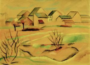 Suburban Houses 1912 by Auguste Macke
