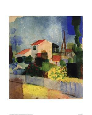 The Bright House by Auguste Macke