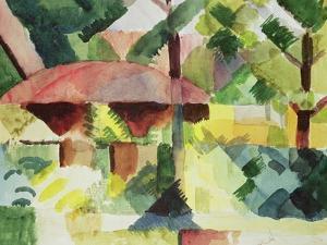 The Garden, 1914 by Auguste Macke