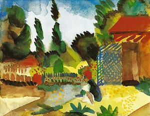 Tunisian Landscape, 1914 by Auguste Macke