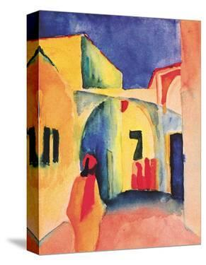 View into a Lane, 1914 by Auguste Macke