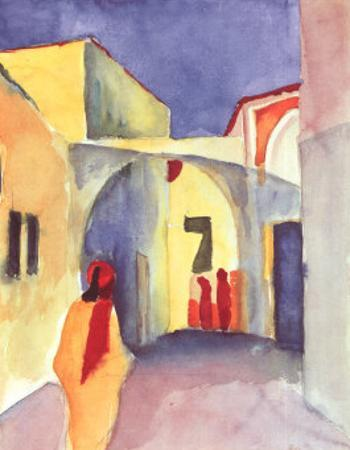 View on an Alley by Auguste Macke