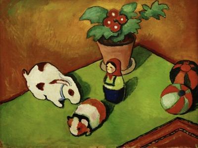 Walterchens Spielsachen (Walterchen's Toys), 1912 by Auguste Macke