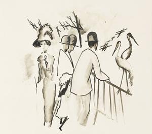Zoological Garden II; Zoologischer Garten II, 1912 by Auguste Macke