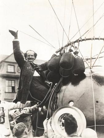 Auguste Piccard Waves as He Climbed into the Spherical Aluminum Capsule