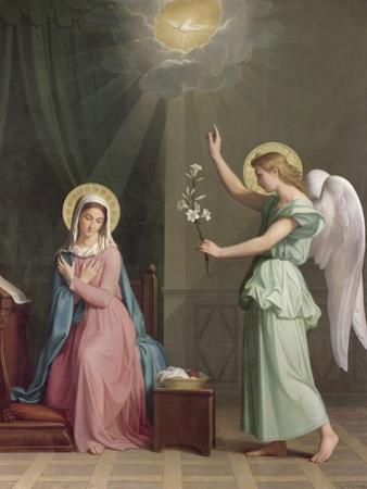 The Annunciation, 1859 by Auguste Pichon