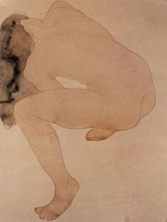 Seated Nude Bending over