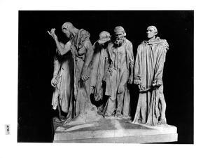 The Burghers of Calais, 1889 (Plaster) (B/W Photo) by Auguste Rodin