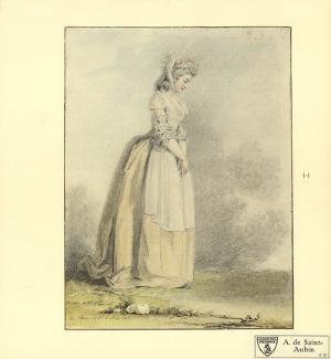 A Young Lady by Augustin De Saint