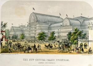 The New Crystal Palace Sydenham, Grand Entrance, Pub. 1854 by Augustus Butler