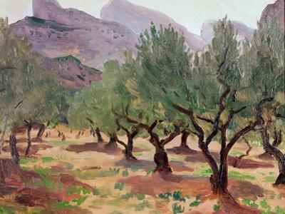 Olives under the Alpilles by Augustus Edwin John