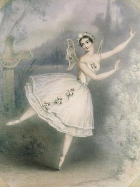 Carlotta Grisi (1819-99) as Giselle, Paris, C.1841 by Augustus Jules Bouvier