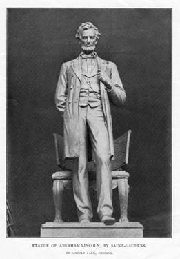 Statue of Abraham Lincoln, Lincoln Park, Chicago, 1887 by Augustus Saint-gaudens