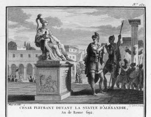 Caesar Weeps Before the Statue of Alexander by Augustyn Mirys