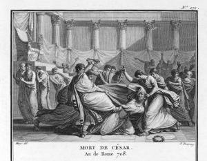 Julius Caesar is Assassinated in the Senate by Brutus and His Companions by Augustyn Mirys