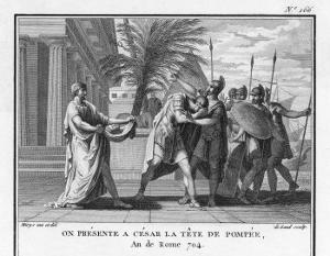 The Head of Pompeius Treacherously Murdered in Egypt is Brought to His Opponent Caesar by Augustyn Mirys