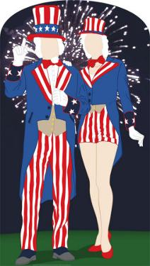 Aunt and Uncle Sam Lifesize Stand-In