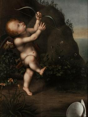 Cupid with a Bow, before 1593 by Aurelio Luini