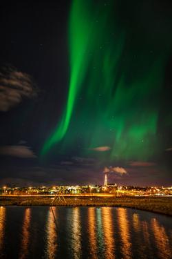 Aurora Borealis or Northern Lights, Reykjavik, Iceland