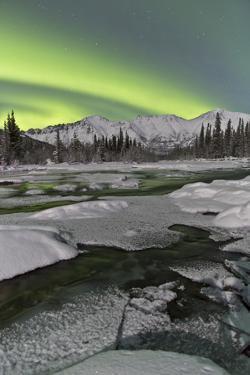 Aurora Borealis over Annie Lake, Yukon, Canada