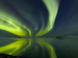 Aurora Borealis over Lake Thorisvatn