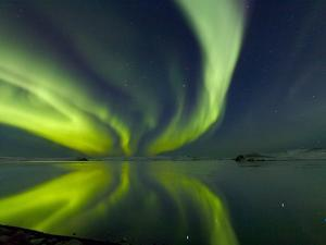 Aurora Borealis over Lake Thorisvatn
