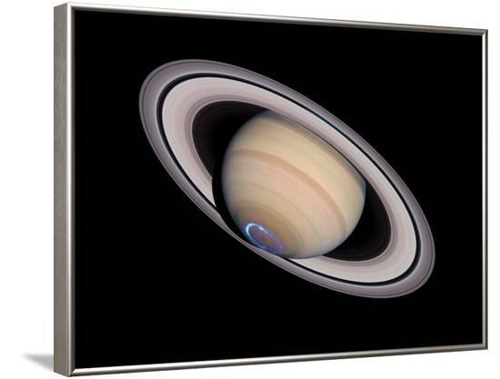 Aurora on Saturn--Framed Photographic Print
