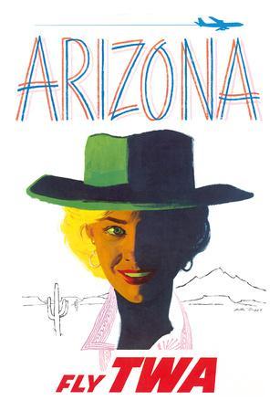 Arizona - Trans World Airlines Fly TWA - Cowgirl