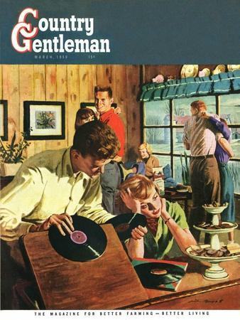 """""""Teenage Party,"""" Country Gentleman Cover, March 1, 1950"""
