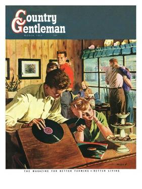 """""""Teenage Party,"""" Country Gentleman Cover, March 1, 1950 by Austin Briggs"""