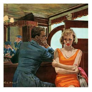 """The Day He Went Away - Saturday Evening Post """"Leading Ladies"""", April 11, 1959 pg.21 by Austin Briggs"""