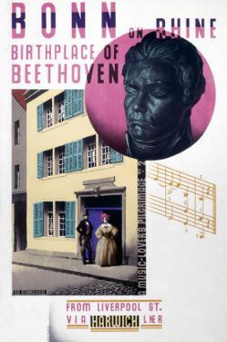 Bonn on Rhine, Birthplace of Beethoven by Austin Cooper
