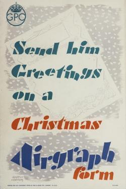 Send Him Greetings on a Christmas Airgraph Form by Austin Cooper