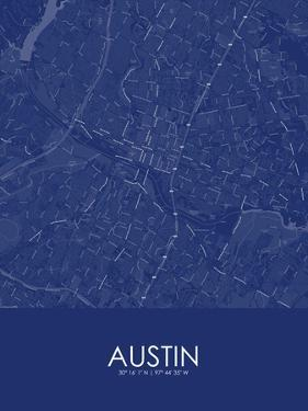 Austin, United States of America Blue Map