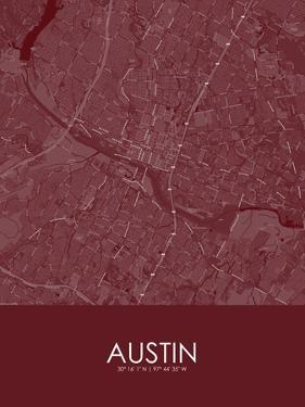 Austin, United States of America Red Map