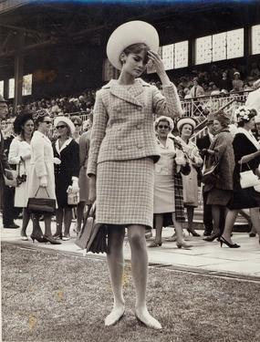 Jean Shrimpton (B.1942) at the Melbourne Cup in 1965 by Australian Photographer