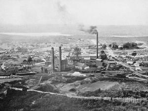The Tasmania Gold Mine, Beaconsfield, Tasmania, c.1900, from 'Under the Southern Cross - Glimpses… by Australian Photographer