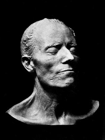 Gustav Mahler's Death Mask, 1911 (Plaster) (B/W Photo) by Austrian
