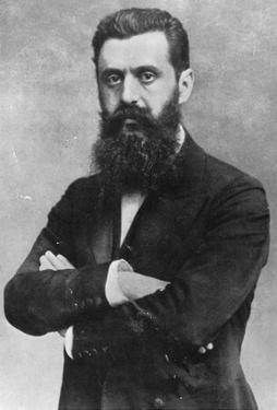 Theodor Herzl, 1903 (B/W Photo) by Austrian Photographer