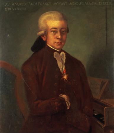Portrait of Wolfgang Amadeus Mozart by Austrian School